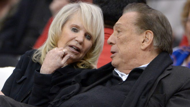 Shelly, left, and Donald Sterling jointly own the Clippers through the Sterling Family Trust.