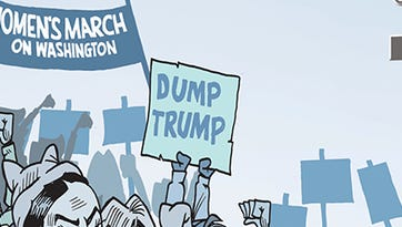 The Women's March on Washington to protest Donald Trump.