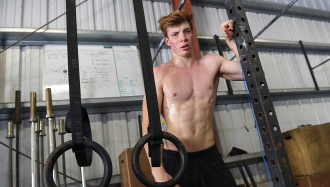 Future World Crossfit Games competitor, Ethan Elwel, 17, after a workout at Unified in Tamuning on July 3, 2018.
