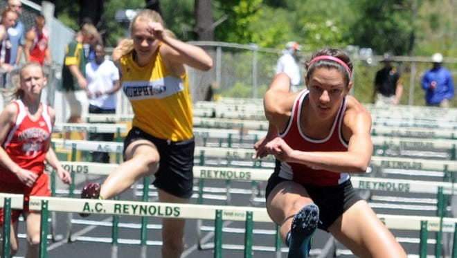 Avery's Kylie Polsgrove won the 100-meter hurdles at Saturday's 1-A Western Regional track meet.