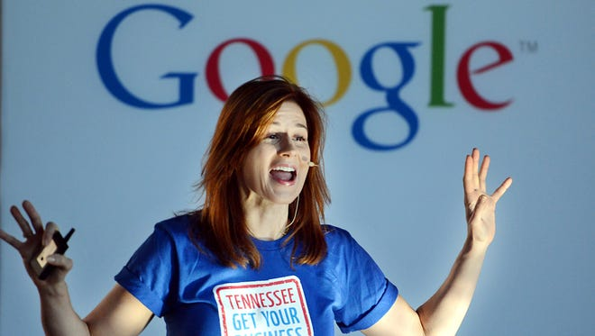 "Google representative Stasia Holdren teaches a session at the ""Tennessee Get Your Business Online with Google"" seminar Wednesday."