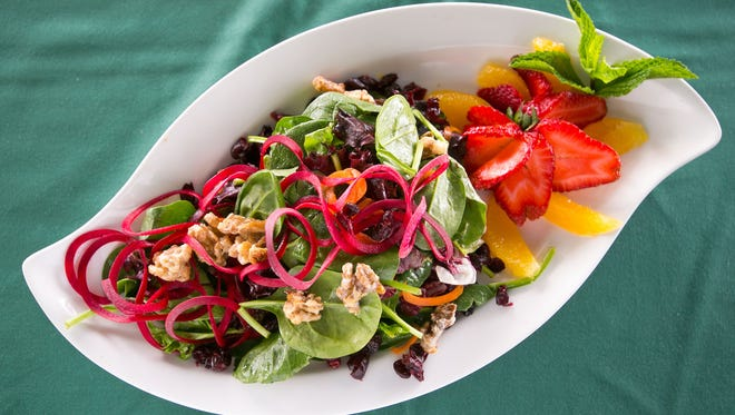 The Fresh Island Green salad at Fresh Mint in Scottsdale is kosher.