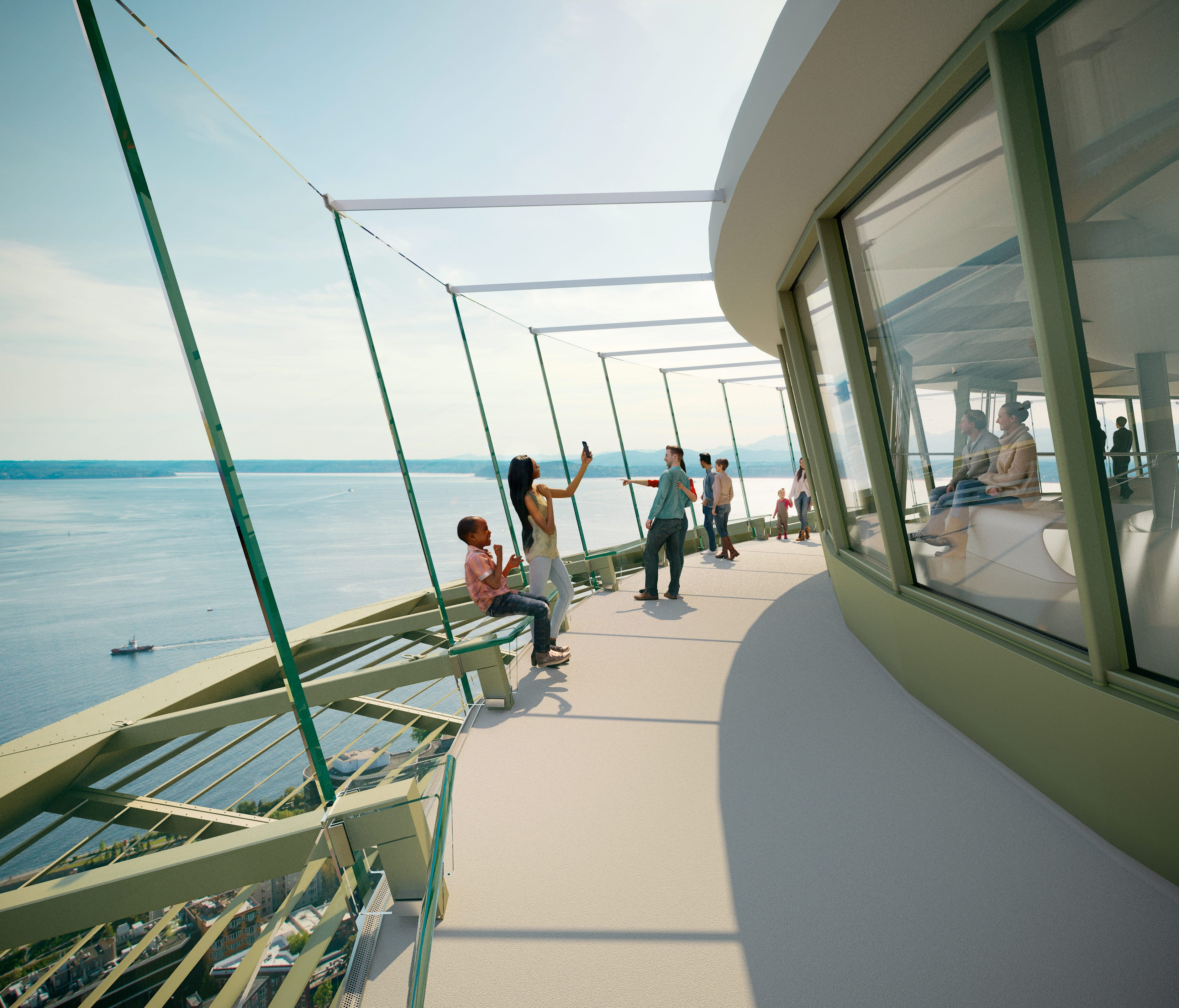A rendering of the completed Observation Deck.