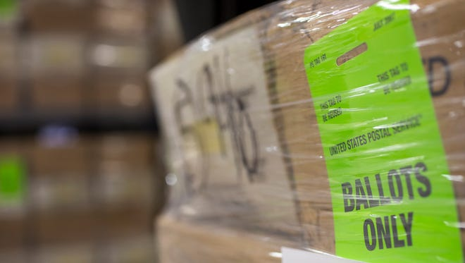 Around 880,000 early voting ballots are ready to be shipped in Tempe on July 31, 2014.