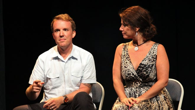Stephen Spotswood discusses his play at the 2014 New Works Festival, with Kristen Coury, founding artistic director of Gulfshore Playhouse. Spotswood was to returns to the festival this season with a new play, but Hurricane Irma canceled the event.