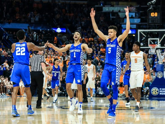 Kentucky celebrates in the waning seconds of  their