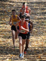 Edmund Coleman runs for Ashland in the 2014 Division I regional cross country meet in Tiffin.