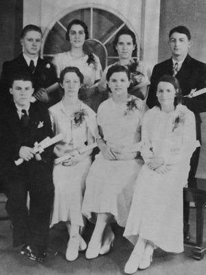 The 1934 graduating class from Essex Classical Institute.