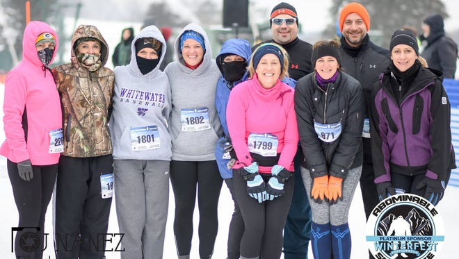The Abominable Snow Race in January in Lake Geneva was, as expected, cold and challenging.