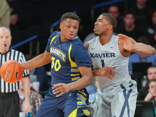 Deonte Burton averaged 6.4 points and 1.4 rebounds in about 16 minutes a game for Marquette last season.