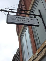 The sign for the Wayne County Independent newspaper