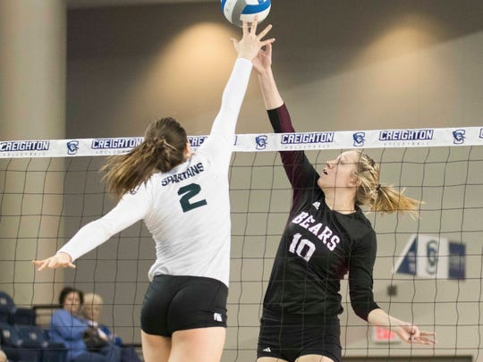Missouri State's Aubrey Cheffey and Michigan State's
