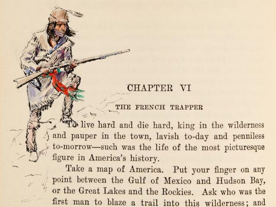 C.M. Russell drawings in book