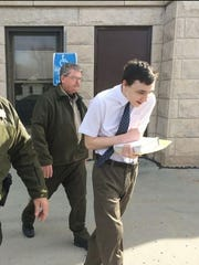 Cody Metzker-Madsen leaves the Harrison County Courthouse