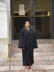 Paterson resident LaToyia Jenkins Stewart was sworn