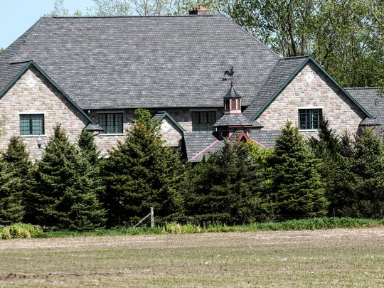 The home of the Rev. Jonathan Wehrle in Williamston Monday May 15, 2017. The priest is accused of embezzling more than $100,000.