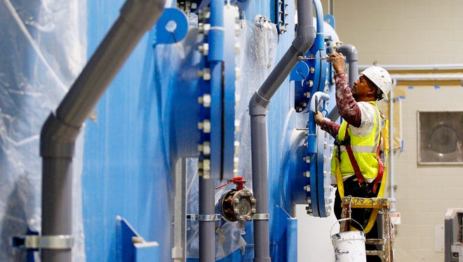 Brady will use filtration tanks similar to the ones at San Angelo's water treatment plant.