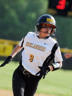 West Milford senior Paige Masiello had a three-run double to send the Highlanders to a 3-1 win over Lakeland on Monday.