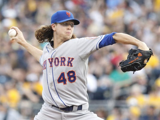 Mets Jacob deGrom at Pittsburgh June 2014