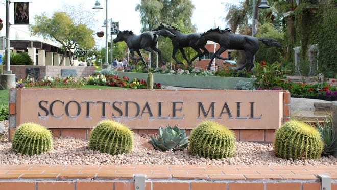 Scottsdale's Civic Center Mall is one of several downtown areas that city officials would like to improve, if they can find the funding to do so.