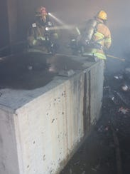 Fillmore firefighters put out a fire on Thursday that