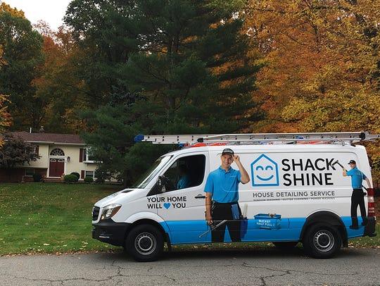 The Shack Shine van outside a Warren home.