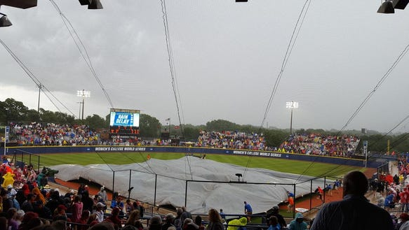Alabama and Oklahoma are in the midst of a rain delay