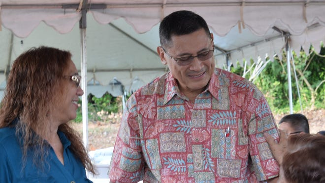David M. Cruz attends a campaign event announcing his candidacy for Lt. Gov in Yigo on March 10, 2018.