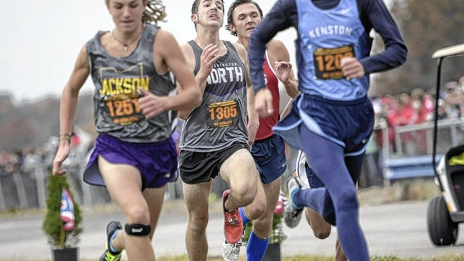 Nick Whitehead is the only senior among the top seven runners for the North boys cross country team and 18th-year coach Tim Starkey.