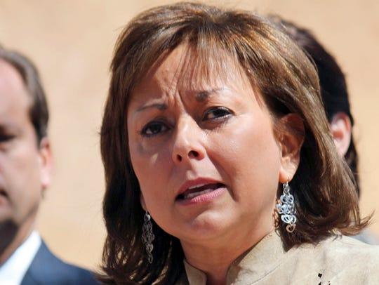 New Mexico Gov. Susana Martinez speaks on March 19,