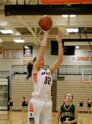 Cori Crocker nearly had a double-double Monday, with 14 points, 13 rebounds and eight blocks in Brighton's win.