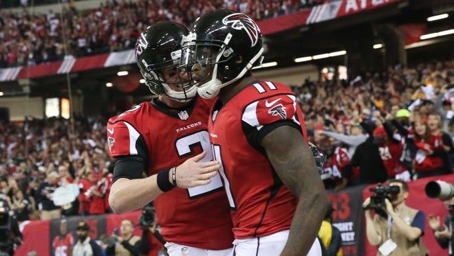 Falcons WR Julio Jones has long been QB Matt Ryan's (2) favorite target.