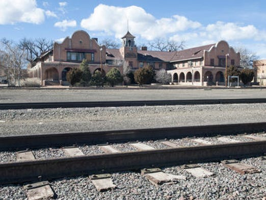 The La Castaneda Hotel in Las Vegas, N.J. is a historic Fred Harvey House hotel built in 1898 to serve as a food-and-rest stop along the Santa Fe Railway.  Earlier this month, the hotel was purchased by Allan Affeldt, who has also restored another Harvey House hotel, the La Posada, in Winslow, Arizona.