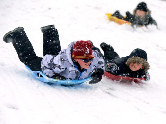 Jake Bourhill, 10, of Montville and Zenon Blanarovich,