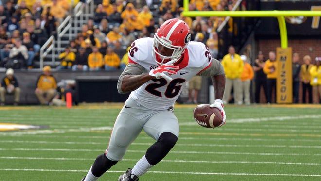 Georgia Bulldogs wide receiver Malcolm Mitchell (26)