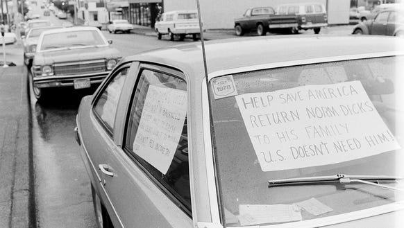 10/26/79 Auto With Anti-Dicks Sign