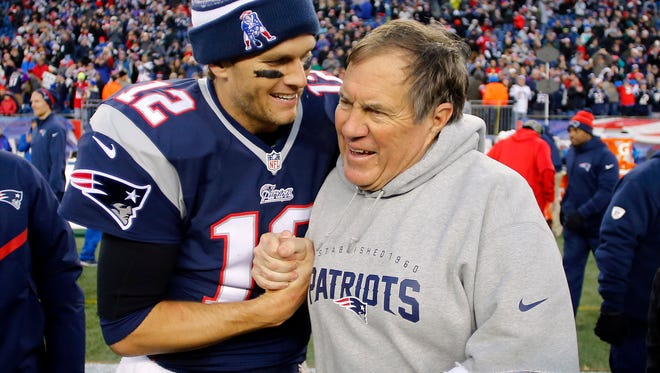 Patriots QB Tom Brady and head coach Bill Belichick hope to win a record fifth Super Bowl together.