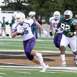 Cougars tight end Nicolas Stanke makes a play downfield on Saturday against Bemidji State. USF won 52-19.