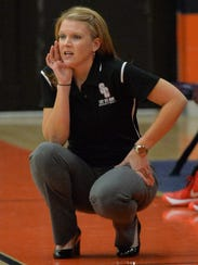 Stewarts Creek coach Lindy King gives instructions