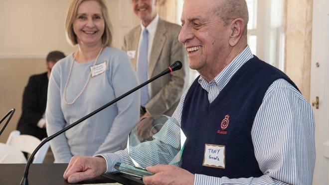 Barbara Tupper Dresden and Alan Maxey presented the Dick Tupper Award to Tony Ferrante.