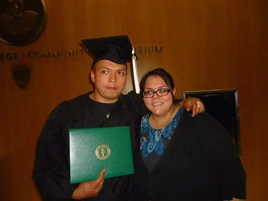 Hector Cedillo Jr., at his Ivy Tech Community College