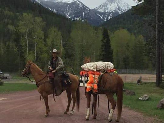 Reunion rider Vern Herrst is shown near the Marias