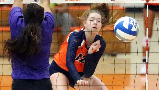 UTEP's Macey Austin leads the Miners in kills. UTEP will host New Mexico State Sunday at 1 p.m. in Memorial Gym.