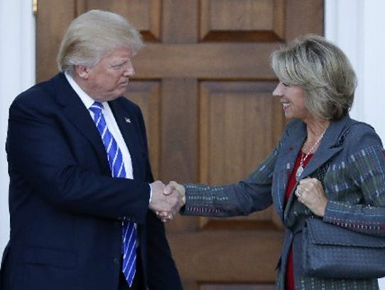 Betsy DeVos is the selection for Secretary of Education