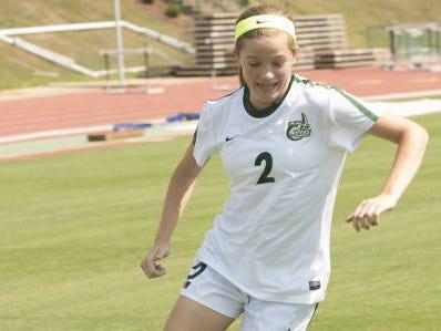 Reynolds alum Megan McCallister is a freshman for the Charlotte women's soccer team.