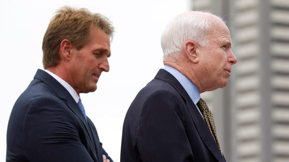 U.S. Senators Jeff Flake and John McCain