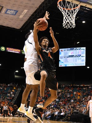 Oregon State guard Derrick Bruce scored a career-high 25 points against California in the Pac-12 quarterfinals. Can the freshman guard continue to excel in the NCAA tournament?