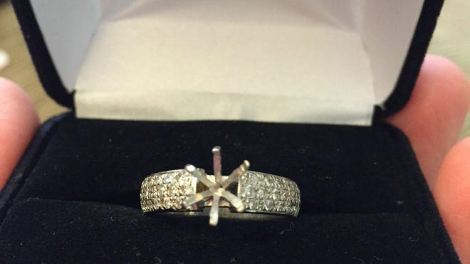 The diamond in Erin Pei's engagement ring is missing after she sent it in for a new setting.