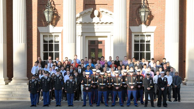 More than 200 high school seniors enlisting in the military were honored Wednesday at Fairleigh Dickinson University