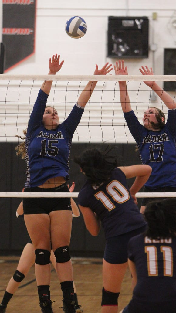Haldane beat Keio in three games in the Class D Section 1 volleyball final at Croton-Harmon Nov. 1, 2014.